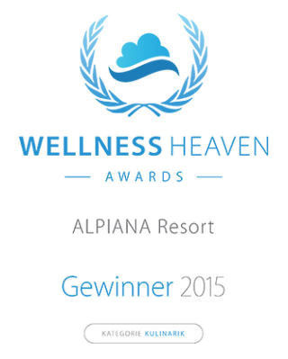Wellness Heaven Award für das Alpiana Resort in Lana, Meran, Südtirol.